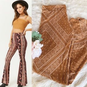 Anthro Mauve Boho Flare Bell Bottom Leggings Pant